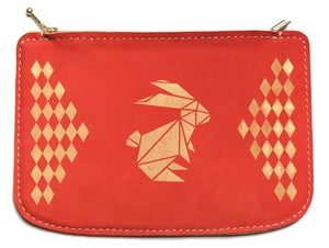 Image of Party Animals - Clutch ( Red/ with Zip)