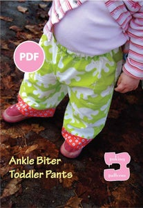 Image of Ankle Biter Toddler Pants Sewing Pattern size 9 months-4T