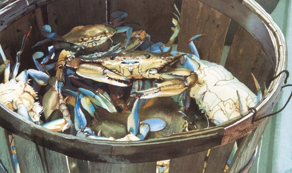 Image of Crabs Notecard