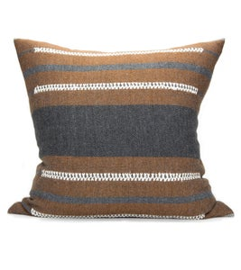 Image of BAU CHIEF PILLOW charcoal | cognac