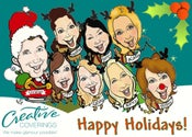 Image of HOLIDAY CARDS (DIGITAL CARICATURES)