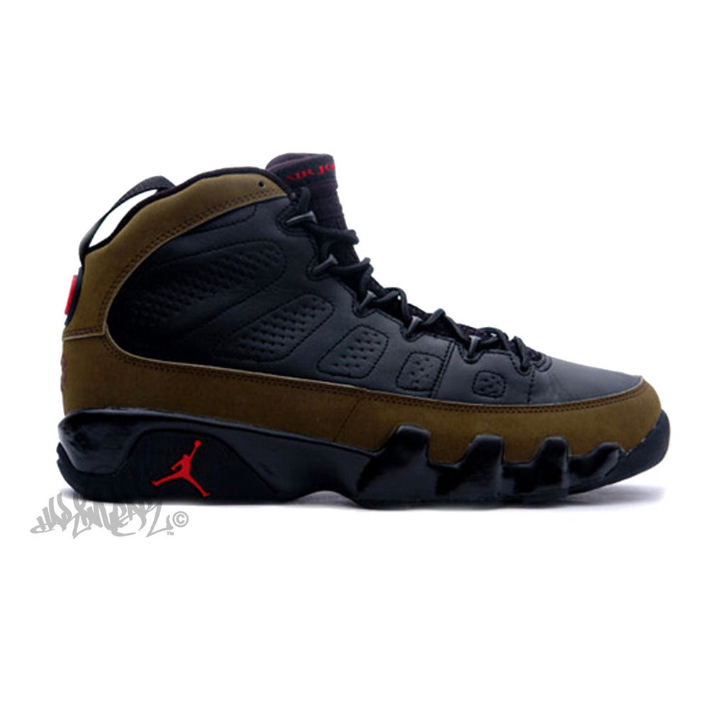 Image of AIR JORDAN 9 - OLIVE - 302370 020