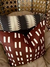 Maroon pillow cover