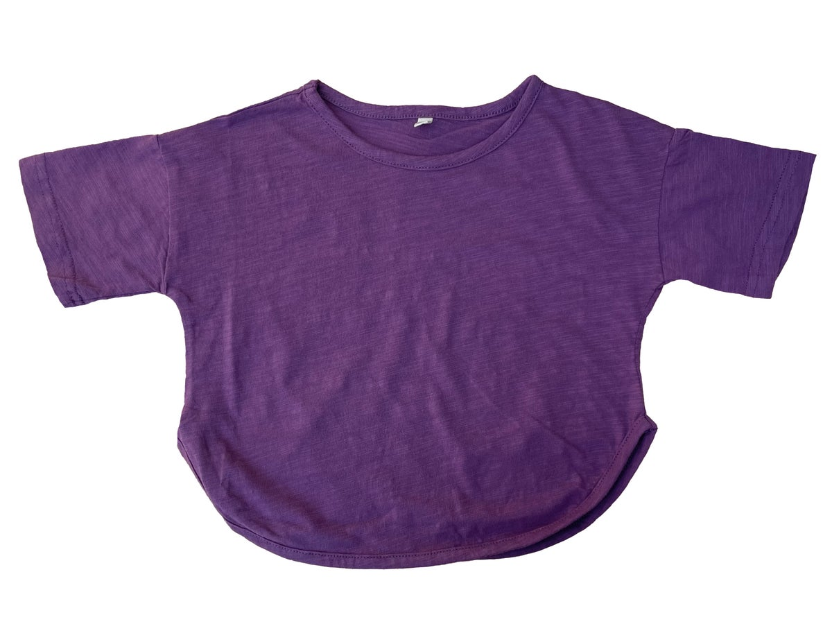 Image of Bamboo Cotton Short Sleeve T-shirt. Purple (was £14)