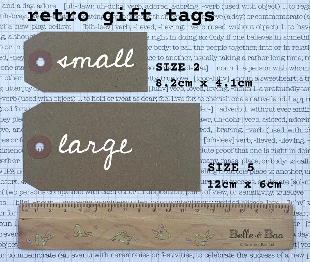 Image of retro gift tag - blue