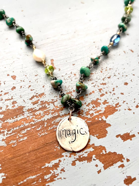 Image of Magic necklace with Fox mine turquoise