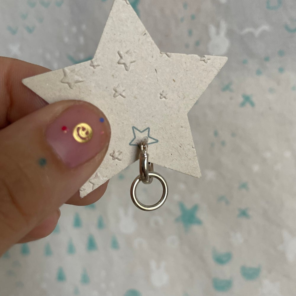 Image of small circle earring