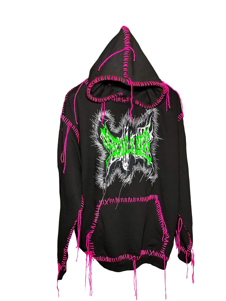 Image of BUTTERFLY OF CHAOS LOGO HOODIE