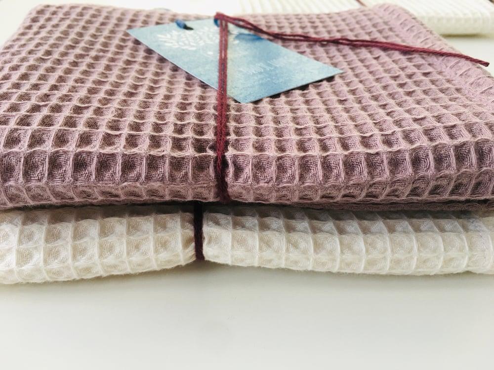Image of Organic Waffle Cotton Tea Towel