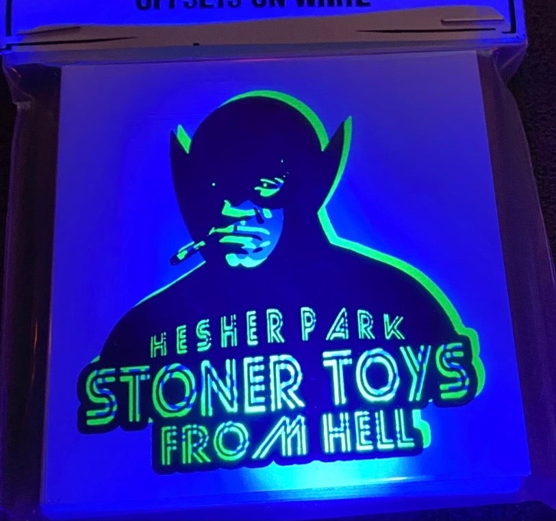Image of STONER TOYS FROM HELL BLACKLIGHT STICKERS