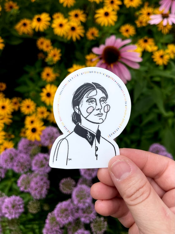 Image of St Gemma Galgani - Matte Sticker