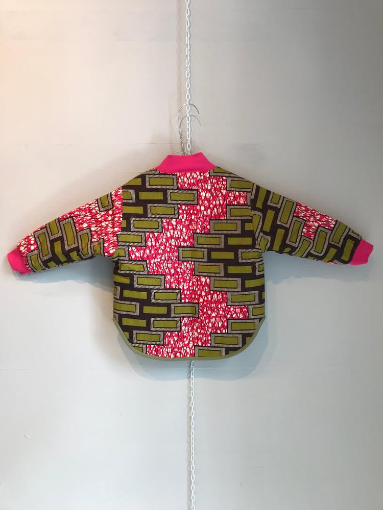 Image of ASFALT kids jakke med pinke mursten (2-5 år)