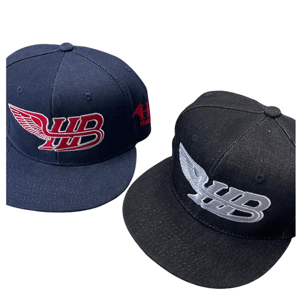 Image of Denim HB wing logo snapback