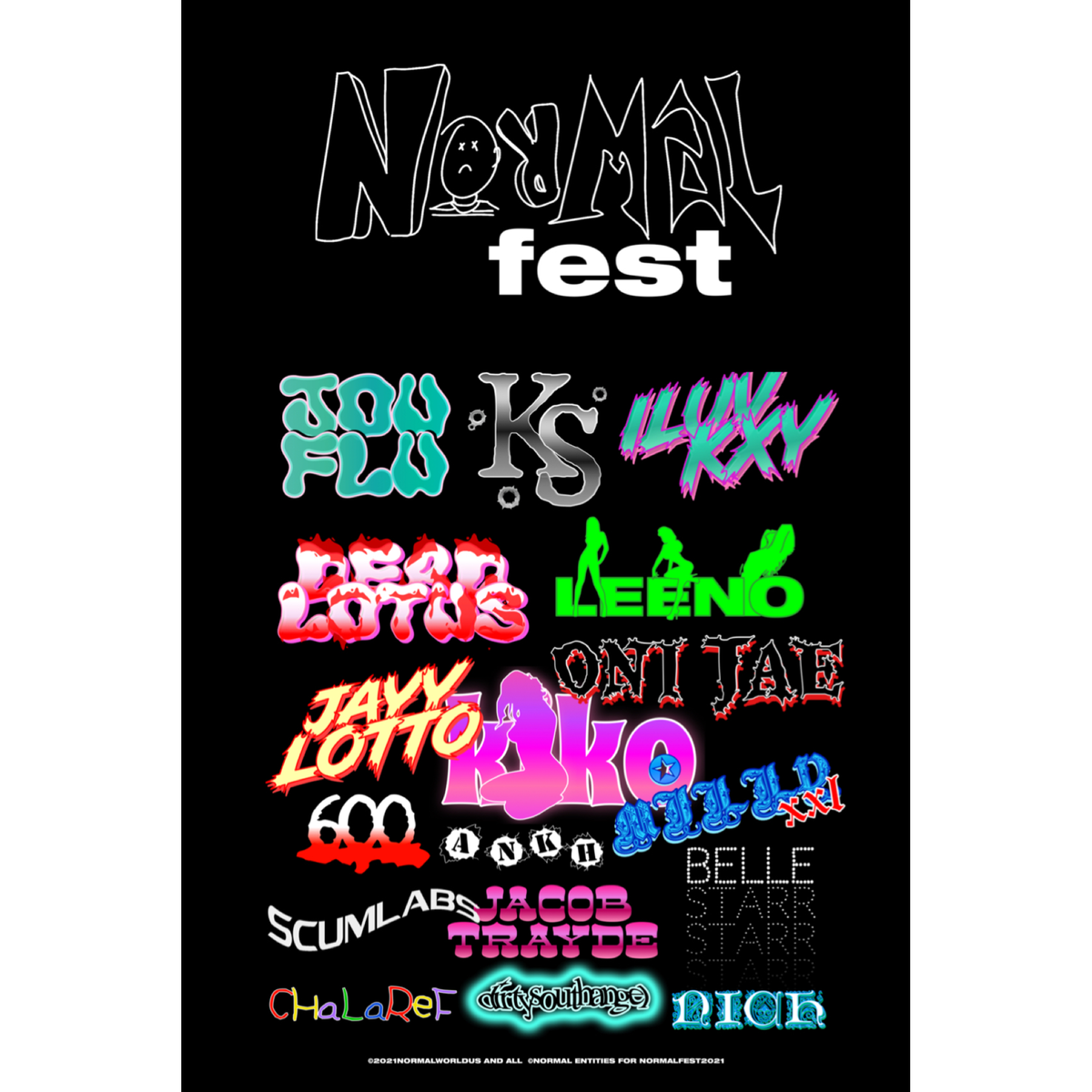 Image of NORMALFEST 2 POSTER