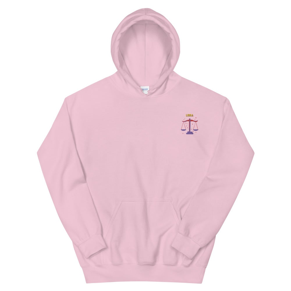Libra Embroidered Unisex Hoodie