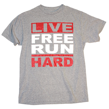 Image of Live Free Run Hard - Heather/Red/White