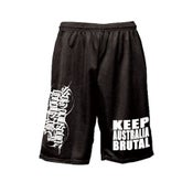 Image of KEEP AUSTRALIA BRUTAL Mosh shorts