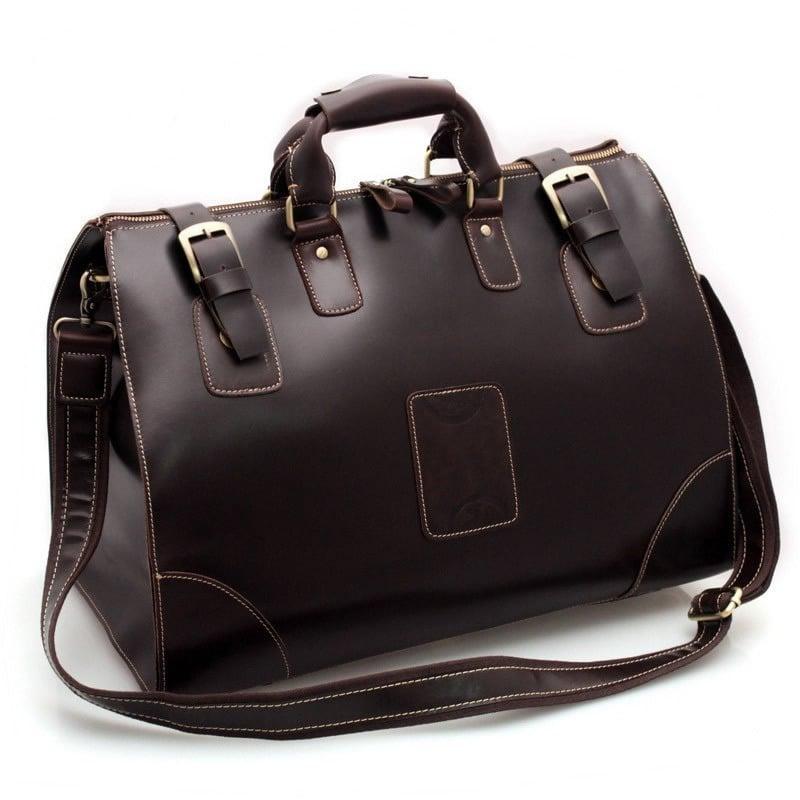 Image of Vintage Large Handmade Superior Leather Travel Bag   Tote   Luggage    Duffle Bag ... 82c4ec9b1720e