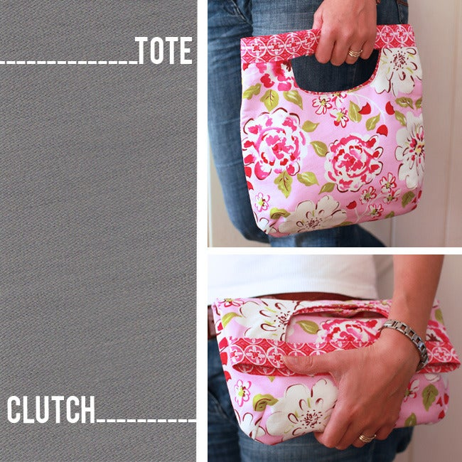 Image of 2 in 1 Fold Over Clutch/Tote Bag