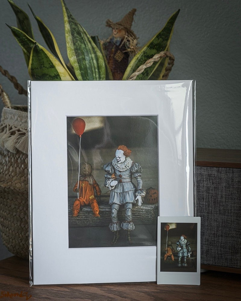 """Image of Limited 5x7 Print - Sharing is Caring"""" Action Figure Series - First Release"""