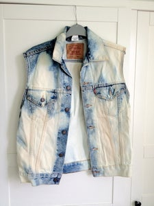 Image of Acid Wash Denim Waistcoat