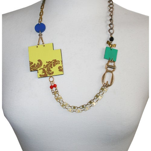 Image of Asymmetric Baroque buckle necklace
