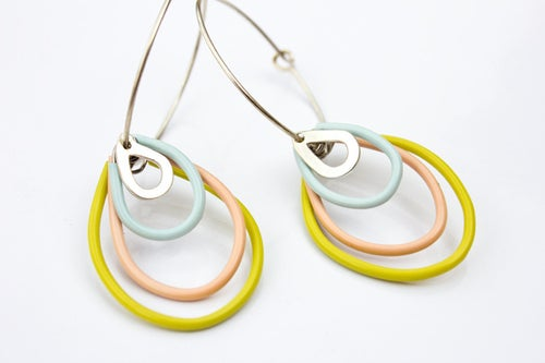 Image of Raindrops hoop earrings