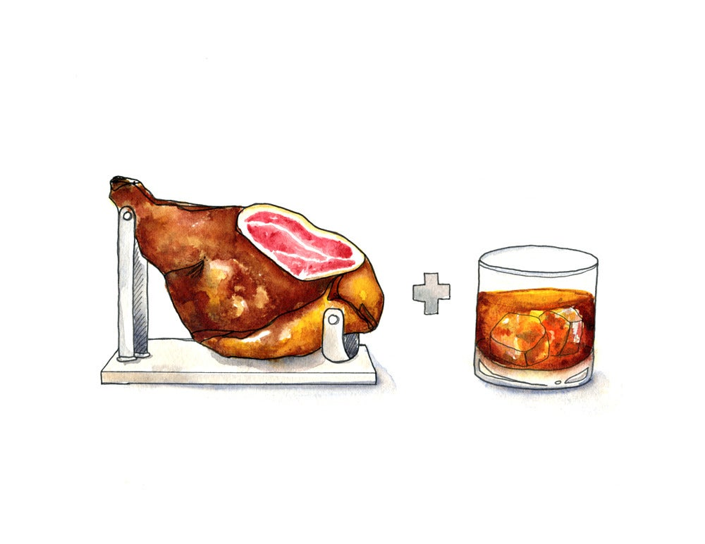 Image of Country Ham + Bourbon Print