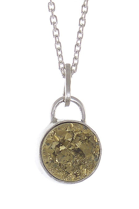 Image of Druzy Round Necklace {more color options}
