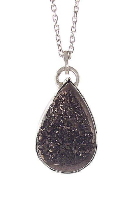 Image of Druzy Pear Necklace {more color options}