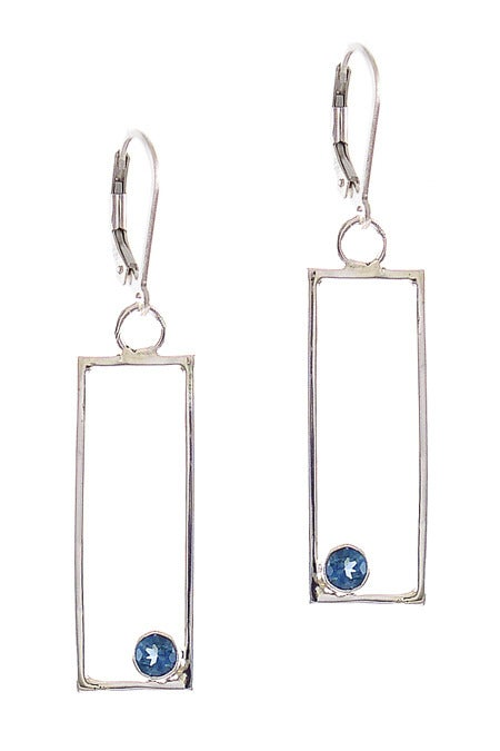 Image of Centric with Blue Topaz Earrings