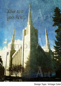 Image of Portland Oregon LDS Mormon Temple Art 001 - Personalized LDS Temple Art