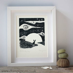 Image of Little Hare, Big Sky Silkscreen Print