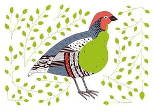 Image of Partridge Pear greetings card