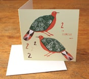 Image of Turtle doves greetings card