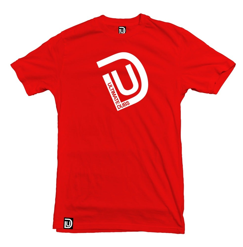 Image of Men's Ultimate Dubs - UD Logo T-Shirt - Red with White Logo - End Of Line Product
