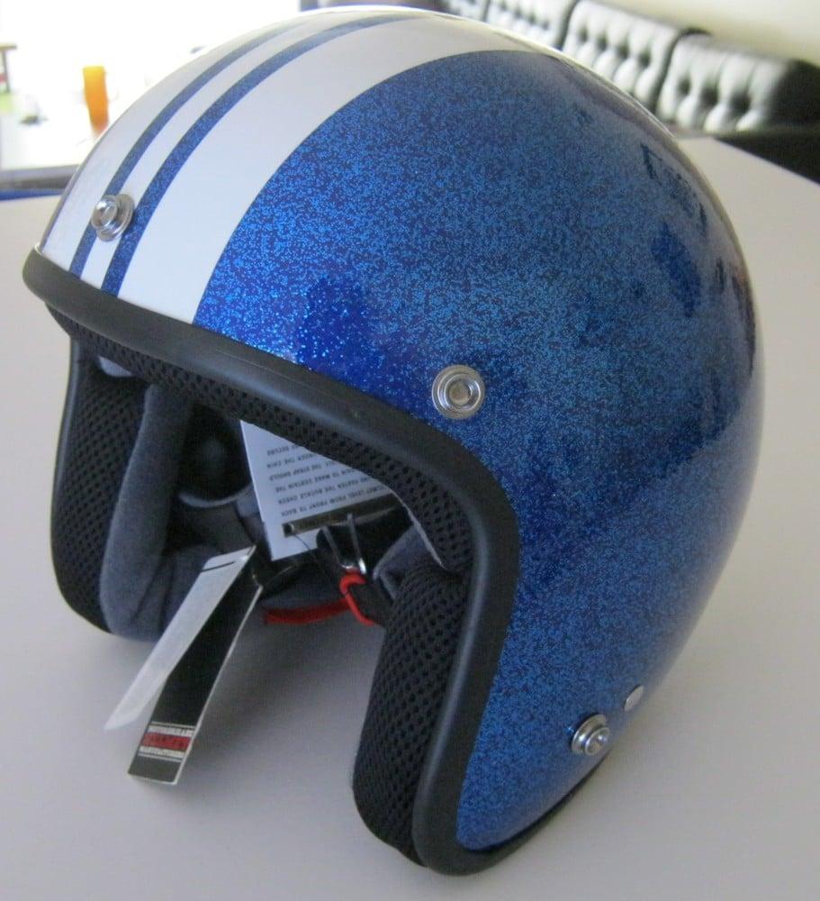 Image of BLUE FLAKE MOTOBRIGADE HELMET