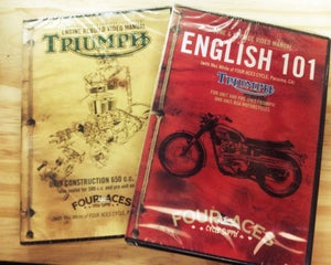 Image of English 101 and Triumph engine rebuild manual (650) 2 dvd bundle set