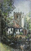 """Image of """"Church at Grasmere"""", Lake District, England"""