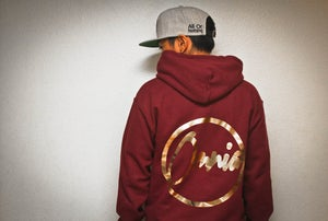 "Image of ""All Gold"" Hoodie Maroon"