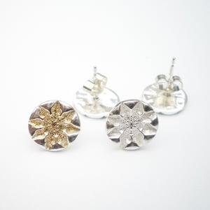 Image of Silver Snowflake Earrings