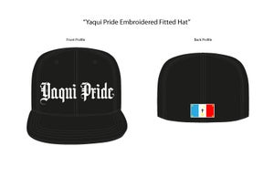 Image of Yaqui Pride Fitted Hat (Black/Black)