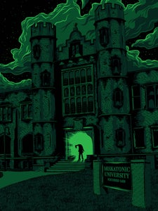 "Image of ""Miskatonic: The Return Of Dr Hill"" Screenprinted Poster Inspired by ""Re-Animator"""