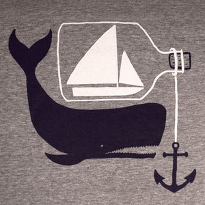 Image of Ship Whale & Bottle T-shirt