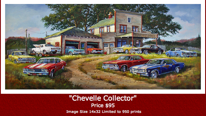 Image of DALE KLEE - CHEVELLE COLLECTOR - NEW 2013 PRINT
