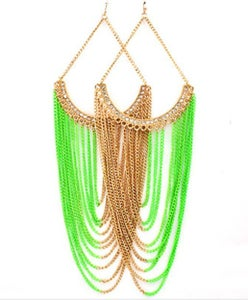 Image of neon chandy earring