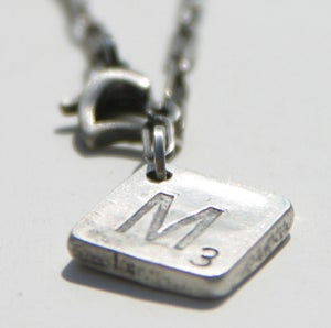Image of scrabble charm necklace