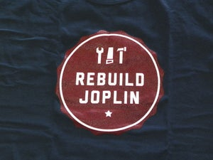 Image of Rebuild Joplin Tee-Blue with Red Logo