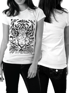 Image of Tigerface - Calligraphic Print - Ladies Fit