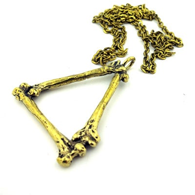 Image of MKTPRICE Triangle, Bone Pendant